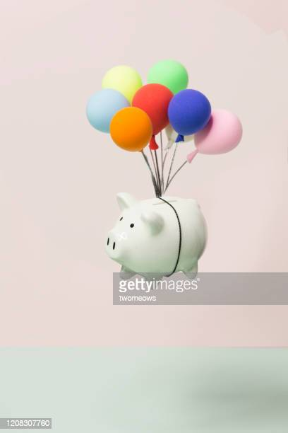 financial freedom aspiration concept still life. - still life stock pictures, royalty-free photos & images