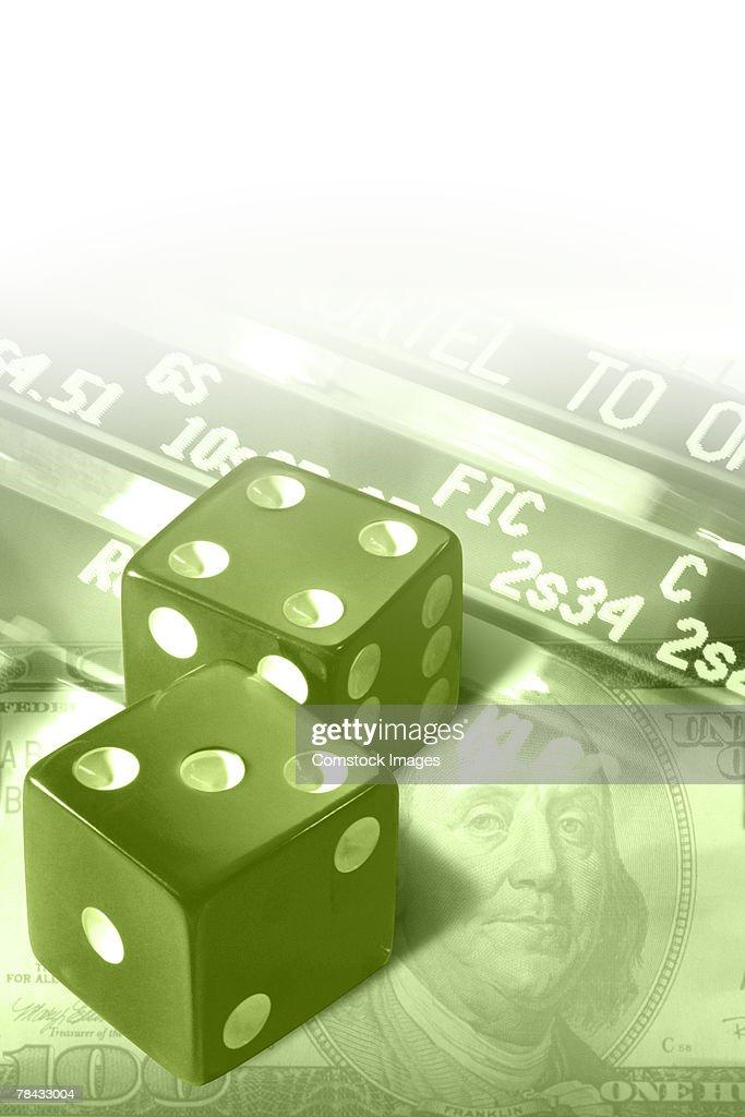 Financial gamble : Stockfoto
