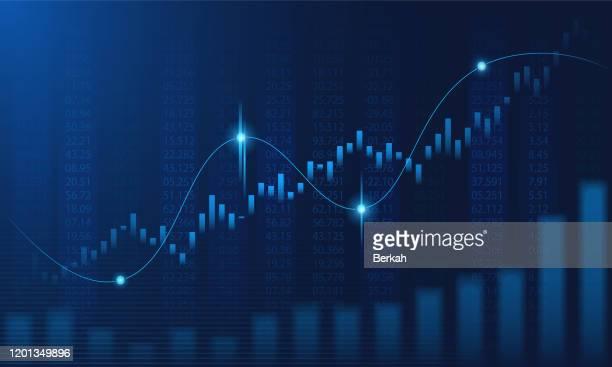 financial graph in futuristic concept - precio fotografías e imágenes de stock