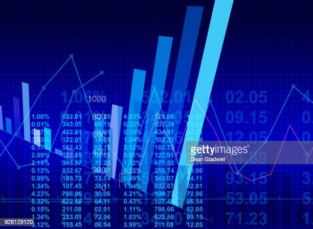 financial graphs illustration - show business stock-fotos und bilder