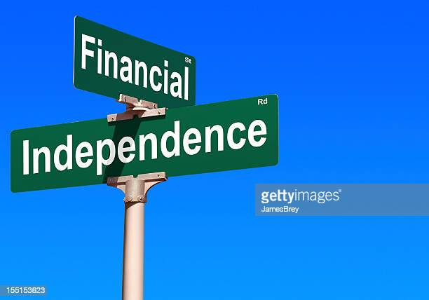 Financial Independence Street Sign