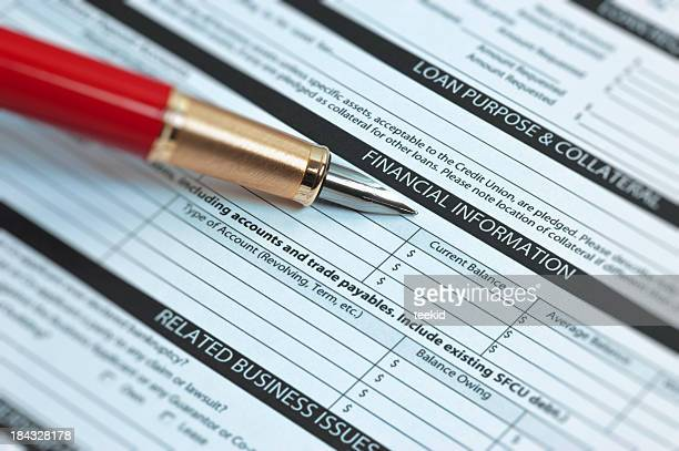 financial information - college application stock photos and pictures