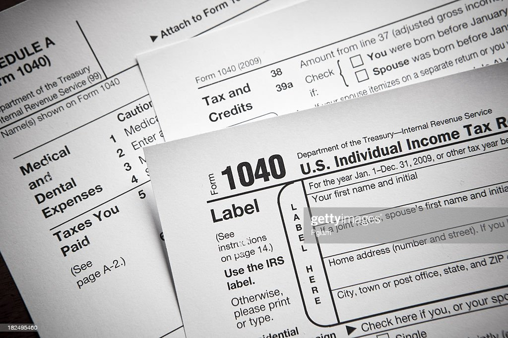 Financial Irs Tax Return Forms Stock Photo Getty Images