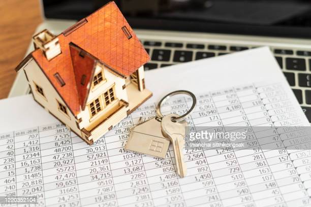 financial planning for home loan rate, real estate concept - mortgage loan stock pictures, royalty-free photos & images