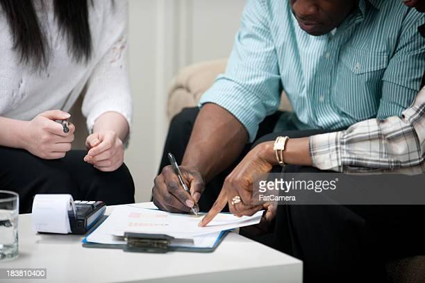 Mitarbeiter der Finanzplanung