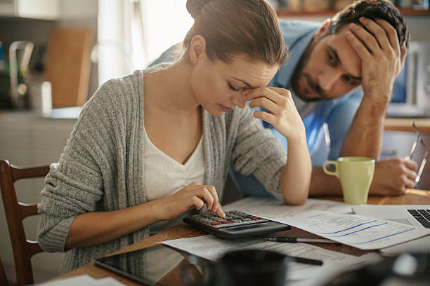 financial problems - marriage problems stock pictures, royalty-free photos & images