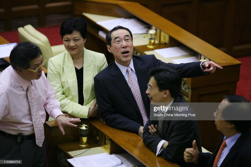 Financial Secretary Henry Tang Ying Yen Talks With Legco Members
