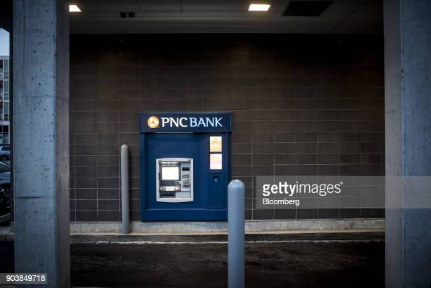 Financial Services Group Inc automatic teller machine stands in downtown Chicago Illinois US on Tuesday Jan 9 2018 PNC Financial Services Group Inc...