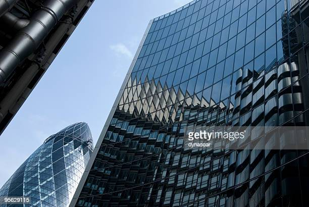 financial skyscrapers, London