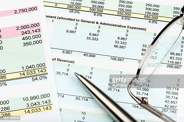 Hoja de cálculo financiera