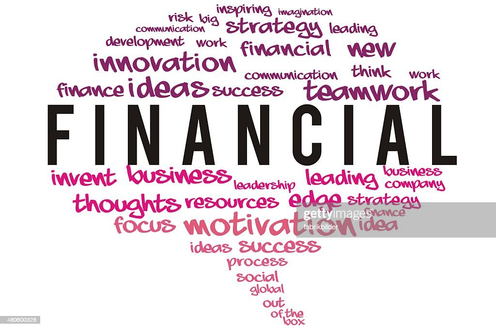 Financial  wordcloud concept : Stock Photo