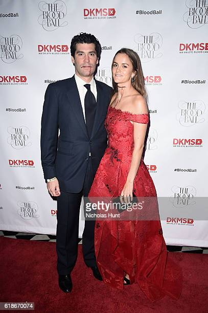 Financier Alejandro Santo Domingo and Blood Ball Event Chair Charlotte Santo Domingoattends the DKMS 2016 Blood Ball at Diamond Horseshoe on October...