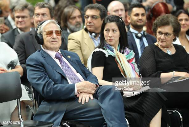Financier and philanthropist George Soros and his wife Tamiko Bolton attend the official opening of the European Roma Institute for Arts and Culture...