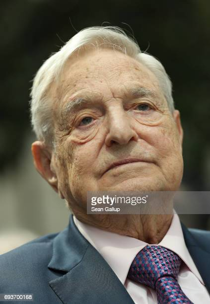 Financier and philanthropist George Soros attends the official opening of the European Roma Institute for Arts and Culture at the German Foreign...