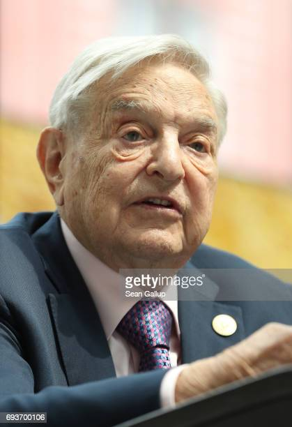 Financier and philanthropist George Soros speaks at the official opening of the European Roma Institute for Arts and Culture at the German Foreign...