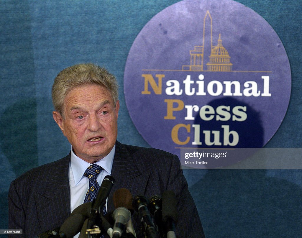 George Soros Critiques Bush Administration : News Photo