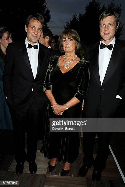 Financier Ben Goldsmith socialite Lady Annabel Goldsmith and environmentalist Zac Goldsmith attend The Royal Parks Charity Gala at the Serpentine...