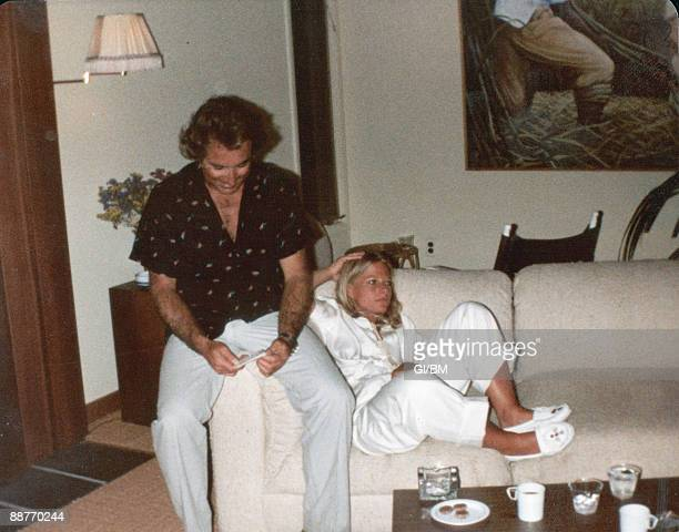 ACCESS*** Financier Bernard Madoff and his wife Ruth Madoff at their Montauk beach house during July 1980 in Montauk NY