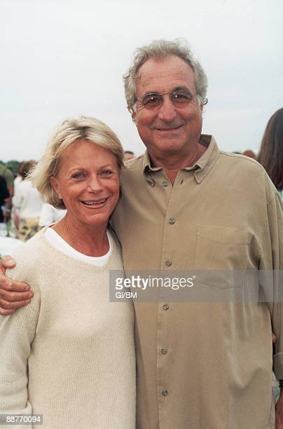 ACCESS*** Financier Bernard Madoff and his wife Ruth Madoff during July 2002 in Montauk NY