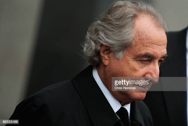Financier Bernard Madoff leaves Manhattan Federal court March 10 2009 in New York City Madoff attended a hearing regarding the conflicting status of...