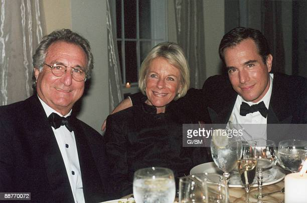 ACCESS*** Financier Bernard Madoff with his wife Ruth Madoff and son Mark Madoff during November 2001 in Long Island NY