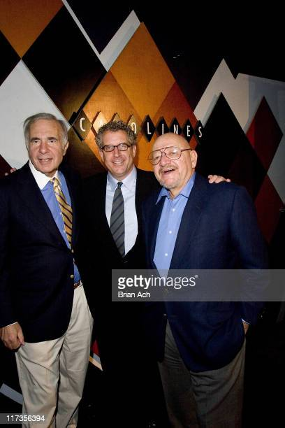 Financier Carl Icahn host David Moore and restaurateur Jerry Della Femina at David Moore's Funny Business Show at the 2nd Annual NY Comedy Festival...