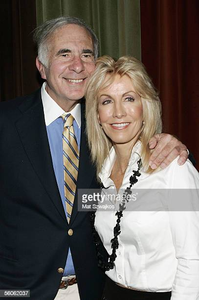 Financier Carl Icahn is seen with his wife Gail Icahn at David Moore's Funny Business Show at Caroline's on Broadway on November 2 2005 in New York...