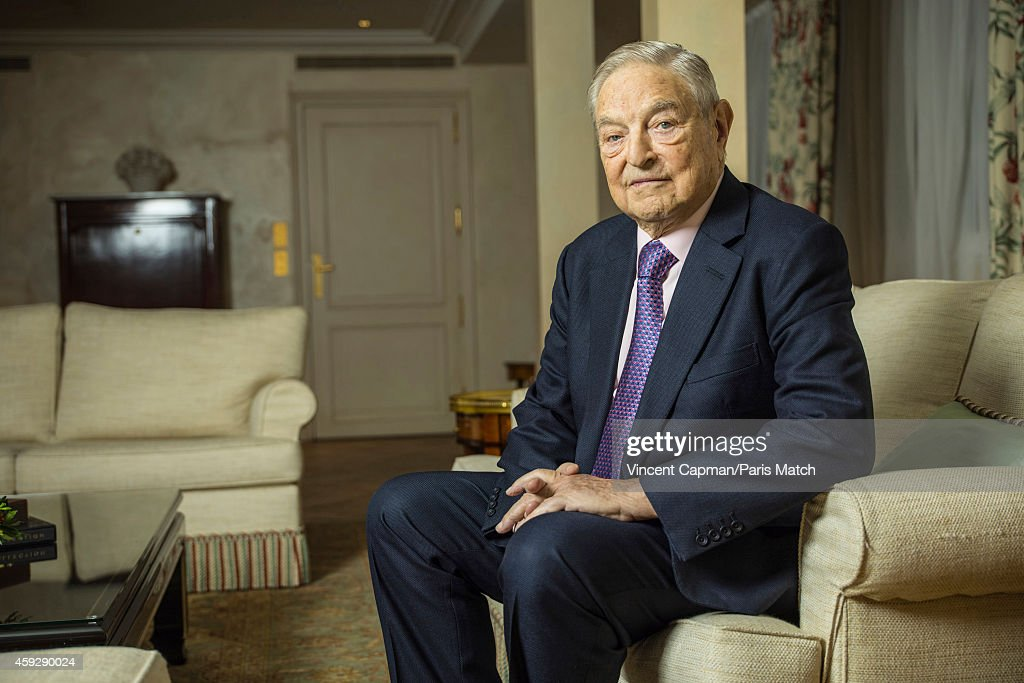 Financier George Soros is photographed for Paris Match on November 5, 2014 in Paris, France.