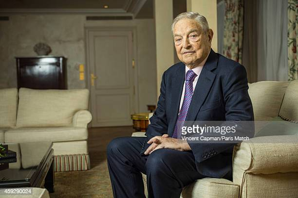 Financier George Soros is photographed for Paris Match on November 5 2014 in Paris France