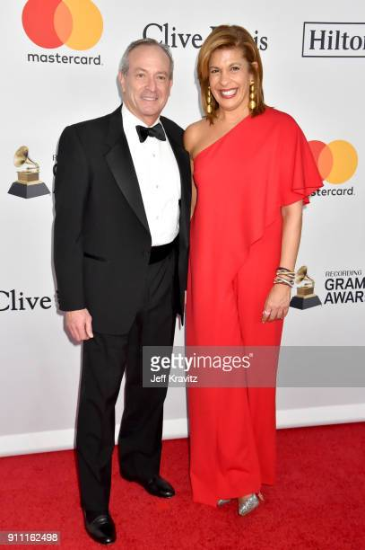 Financier Joel Schiffman and journalist Hoda Kotb attend the Clive Davis and Recording Academy PreGRAMMY Gala and GRAMMY Salute to Industry Icons...