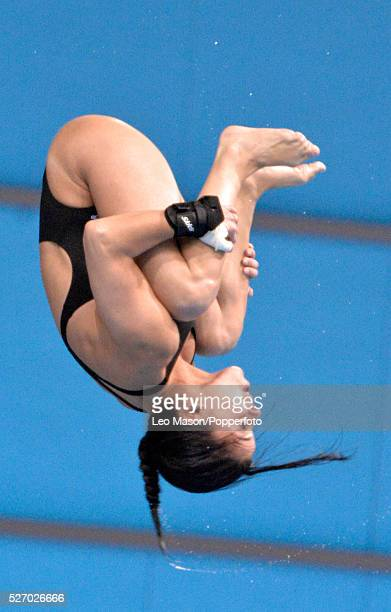 Fina/NVC Dving World Series 2014 at the London Aquatics Centre Queen Elizabeth Olympic Park UK Womens 10m Platform diving final Meaghan Benfeito CAN