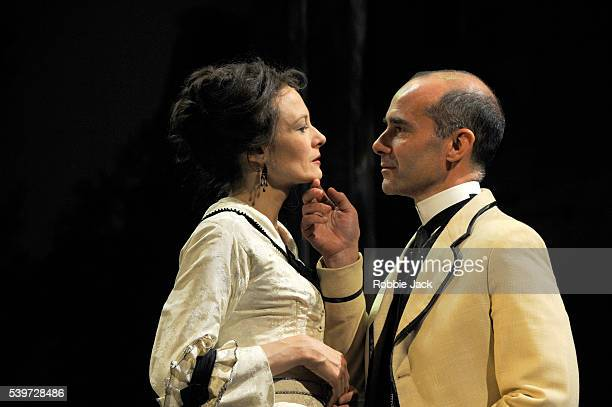 Finbar Lynch and Catherine McCormack perform in Henry James's play The Portrait of a Lady at the Theatre Royal in Bath