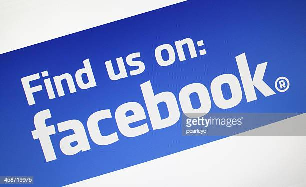 find us on facebook - facebook logo stock pictures, royalty-free photos & images