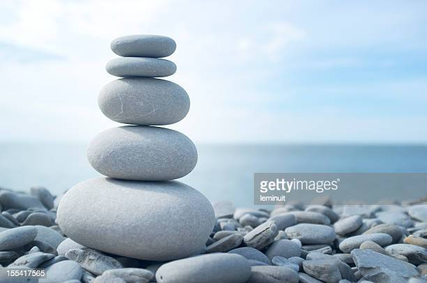 find your balance - pebble stock photos and pictures