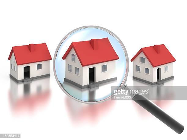 Encontrar uma casa com lupa-Traçado de Recorte incluído