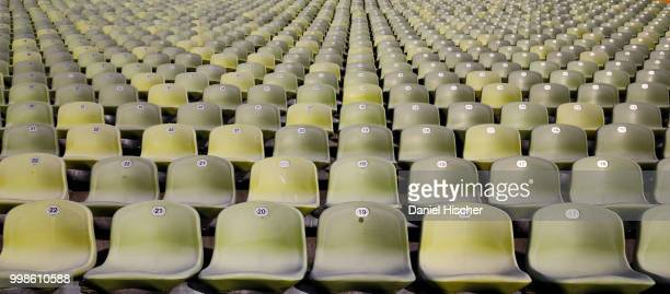 finding a seat - olympic stadium stock pictures, royalty-free photos & images
