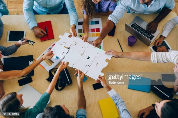 finding a solution - two dimensional shape stock photos and pictures