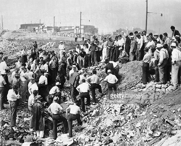 Finding of the bones of the twelfth and thirteenth victims of Cleveland's mad torso killer along the shores of Lake Erin brought out a crown of...