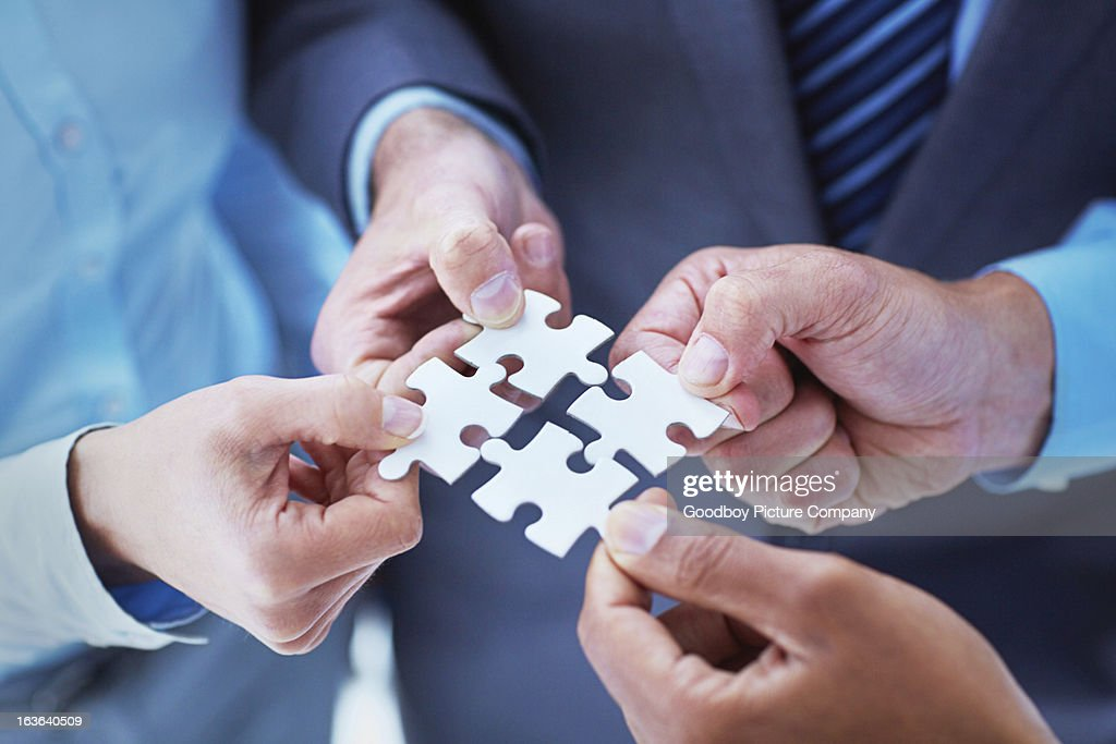 Finding solutions through teamwork : Stock Photo