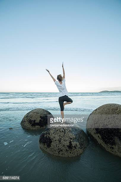 Finding the balance, the spirituality. Yoga by the sea