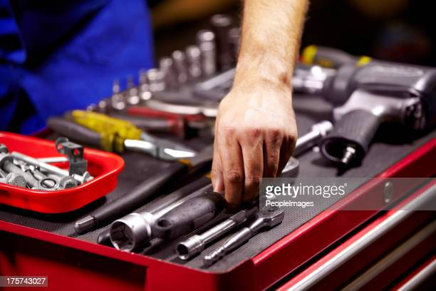 finding the perfect tool - toolbox stock photos and pictures