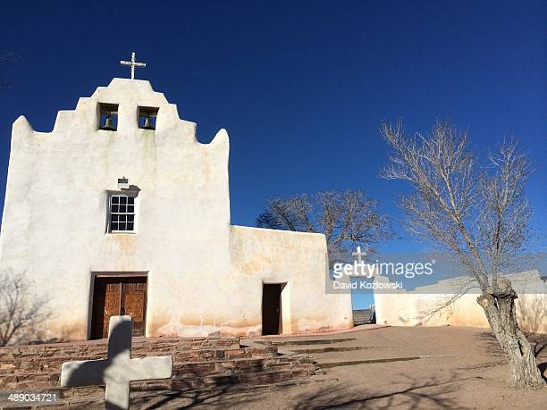 finding tranquility - pueblo built structure stock photos and pictures