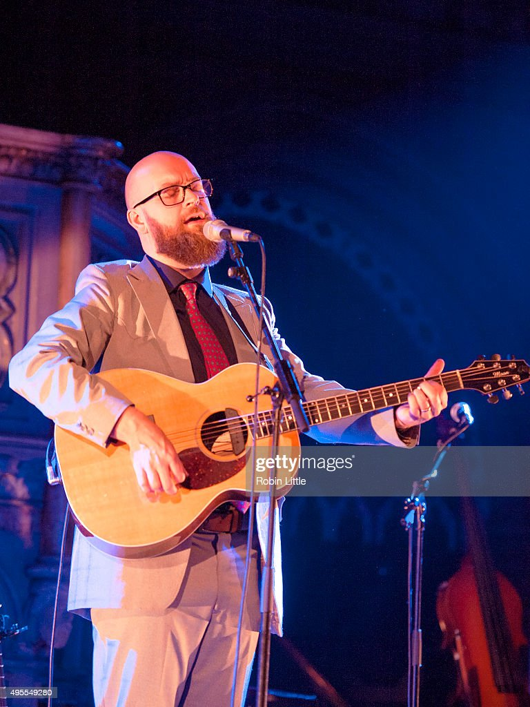 Findlay Napier performs in the London Folk and Roots Festival at the Union Chapel on November 3, 2015 in London, England.