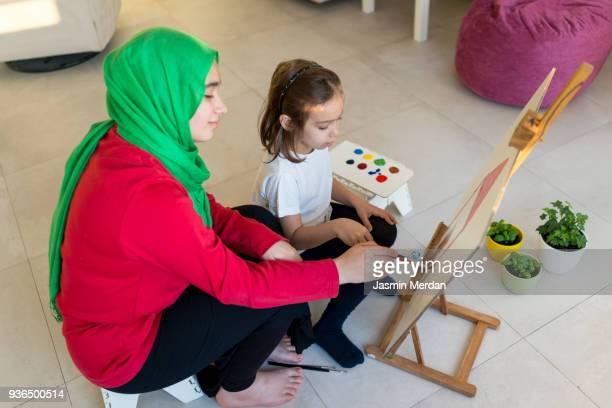 Fine art Arabic girl painting