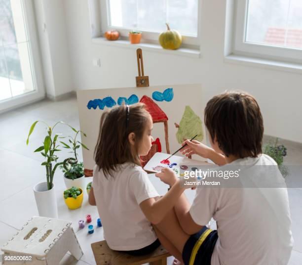 Fine art boys painting