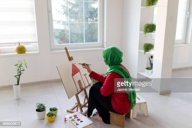 Fine art girl painting