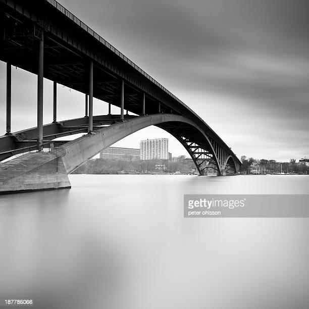Fine art long exposure of the Westbridge in Stockholm