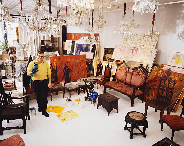 Fine Art Painter Hunt Slonem in the Studio