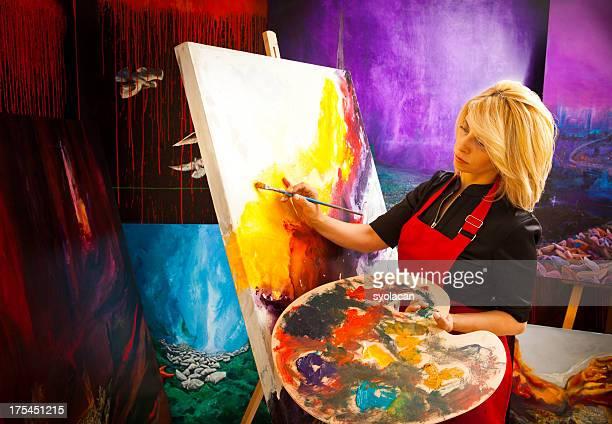 fine art painter - syolacan stockfoto's en -beelden