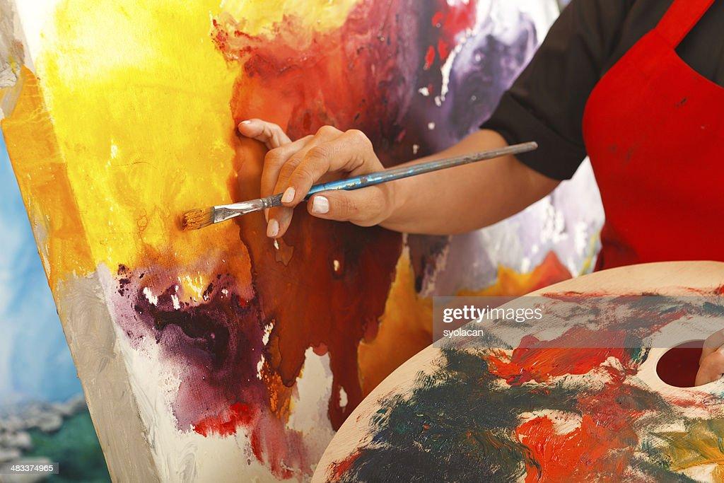 Fine art painter : Stock Photo